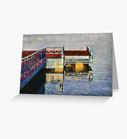 The Jetty, Jagua bay, Cienfuegos, Cuba Greeting Card