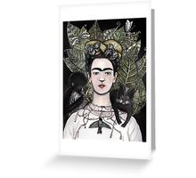 Frida Kahlo self portrait version Greeting Card