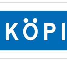 Linkoping, Road Sign, Sweden  Sticker