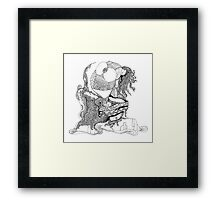 The Empress Is Frightened Of The Ocean Framed Print