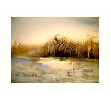 Beyond Silence....Winter Landscape.. Art Print