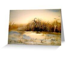 Beyond Silence....Winter Landscape.. Greeting Card