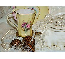 Teatime and treasures Photographic Print