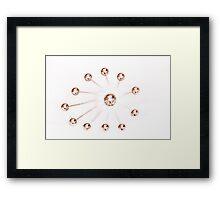 Ball Whisk Abstract High Key Framed Print