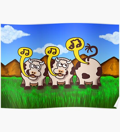 Singing Cows Poster