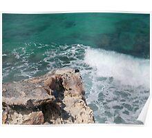 Crashing Carribean Waves Poster