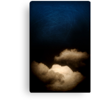 Clouds in a scratched darkness Canvas Print