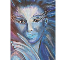 Fantasy Lady in blue - MW Art Marion Waschk Photographic Print