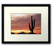 Arizona Saguaro Sunrise Framed Print