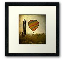 Hot Air Balloon Flight over the Desert Framed Print