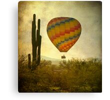 Hot Air Balloon Flight over the Desert Canvas Print