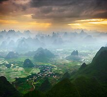 Over Yangshuo, China by Karl Willson