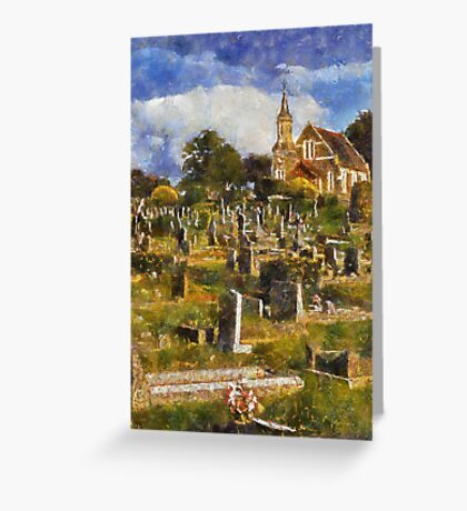 Chapel and Cemetery, Newton Abbot, Devon Greeting Card