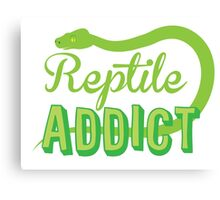 Reptile Addict (with snake) Canvas Print
