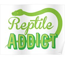 Reptile Addict (with snake) Poster