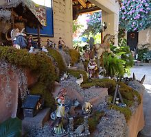 Nativity scene in the tropics -  El belén en la zona tropical by Bernhard Matejka