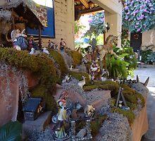 Nativity scene in the tropics -  El belén en la zona tropical by Bernhard Matejka