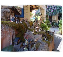Nativity scene in the tropics -  El belén en la zona tropical Poster