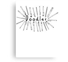The Doodler Canvas Print