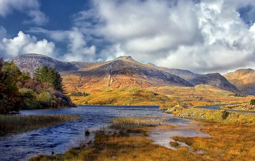 Ballynahinch lake at Ballinafad Connemara Galway Ireland. by MickBourke
