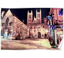 Lincoln Cathedral At Night Poster