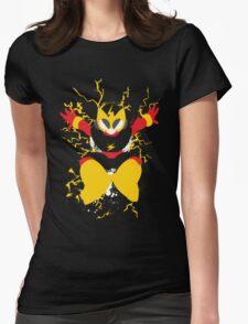 Elec Man Splattery Design Womens Fitted T-Shirt