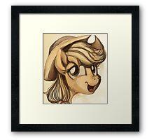 A Silly Pony Framed Print