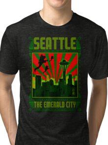 SEATTLE - THE EMERALD CITY Tri-blend T-Shirt