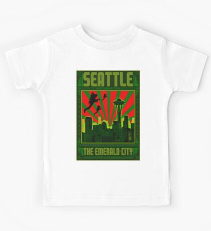 SEATTLE - THE EMERALD CITY Kids Tee