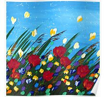 Wildflowers Dancing Poster