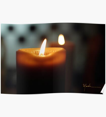 Candle and flame Poster