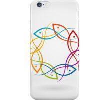 Fish a circle iPhone Case/Skin