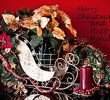 Merry Christmas & Happy Holidays by Sherry Hallemeier