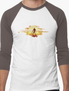 Giant God Warrior - Silhouette Men's Baseball ¾ T-Shirt