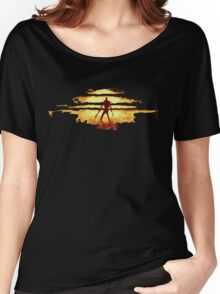 Giant God Warrior - Silhouette Women's Relaxed Fit T-Shirt
