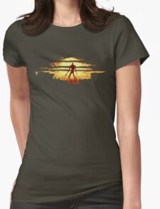 Giant God Warrior - Silhouette Womens Fitted T-Shirt