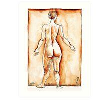 Standing Joelle camaieu Art Print