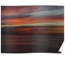Bay of Banderas after sunset - Bahia de Banderas despues de la puesta del sol Poster