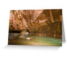 Zion Narrows Slot Canyon Greeting Card