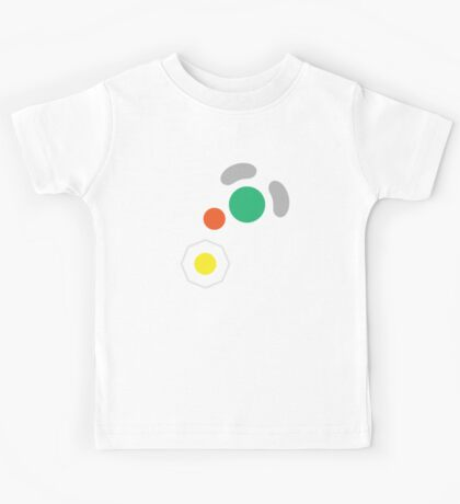 Gamecube Controller Button Symbol Kids Tee