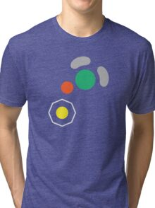 Gamecube Controller Button Symbol Tri-blend T-Shirt