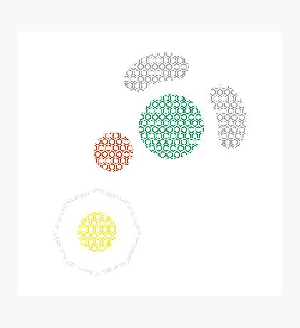 Gamecube Controller Button Symbol - Hexagon Photographic Print