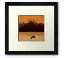Fish on lake Framed Print