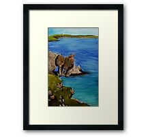 Lattice Window - Broadhaven South Framed Print