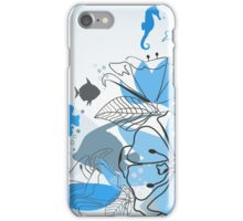 Fishes a flower iPhone Case/Skin