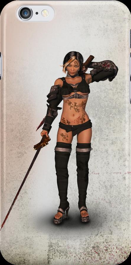 Fantasy Heroine I Phone Case by ellearden