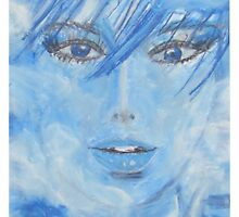 cloudy to sky blue - wolkig bis himmelblau - MW Art by Marion Waschk