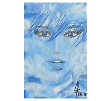 cloudy to sky blue - wolkig bis himmelblau - MW Art Photographic Print