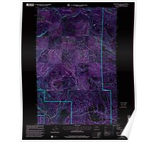 USGS Topo Map Washington State WA Manastash Lake 242167 2000 24000 Inverted Poster