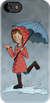 Rain Rain Go Away iPhone Case by Kristy Spring-Brown
